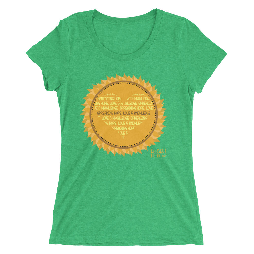 Ladies' short sleeve t-shirt - Sunflower