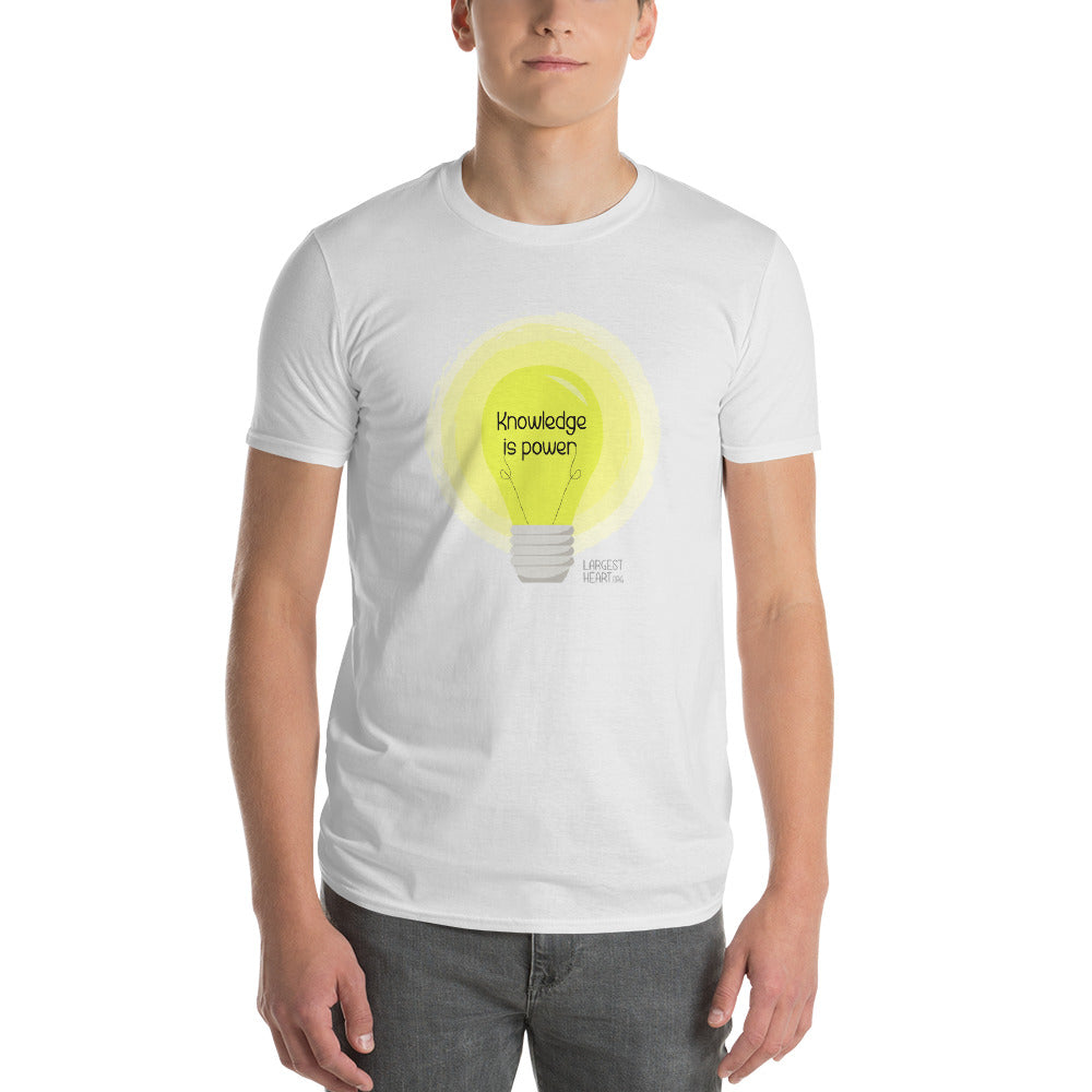Men's Short Sleeve T-Shirt - Knowledge is Power