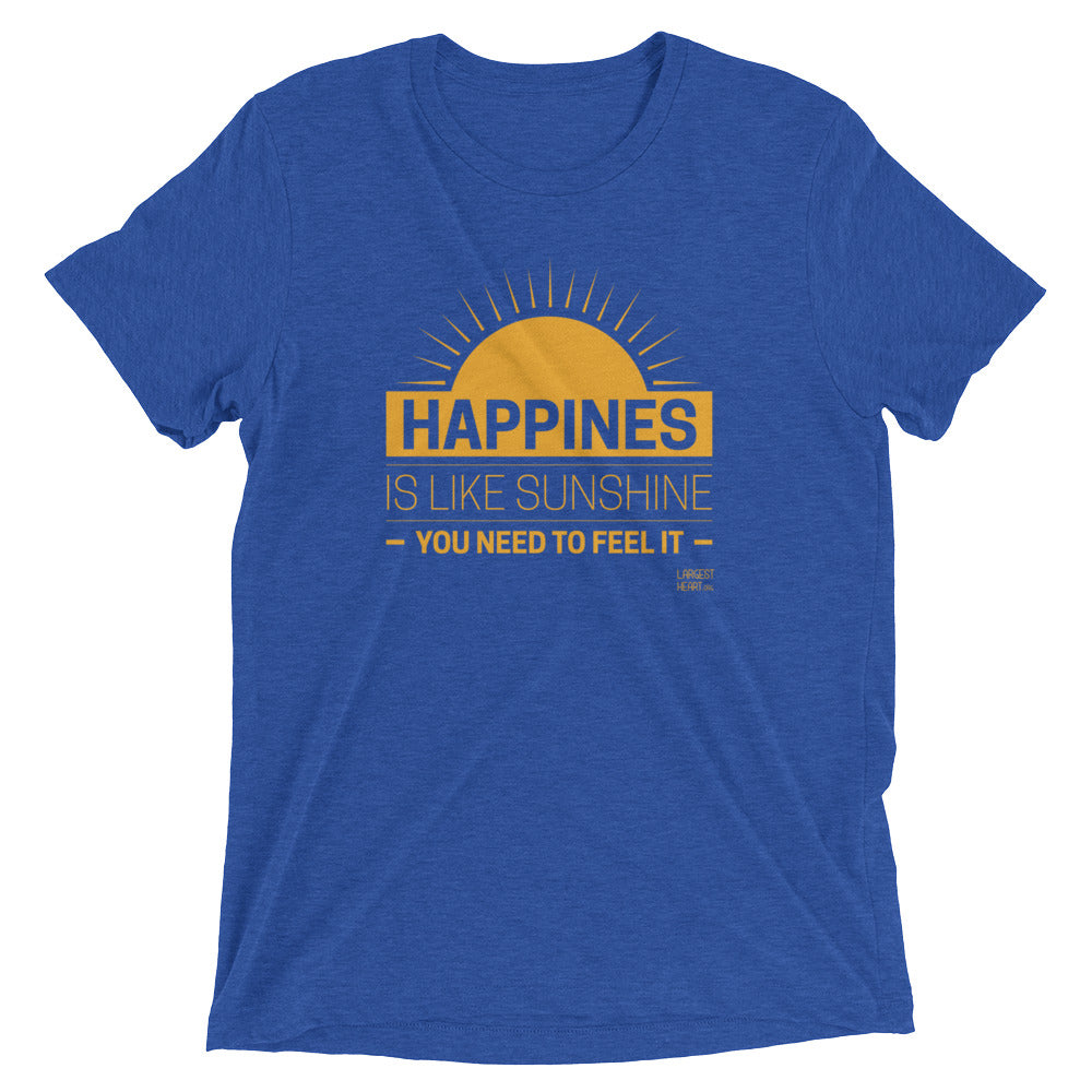 Triblend Short Sleeve T-shirt - Happiness