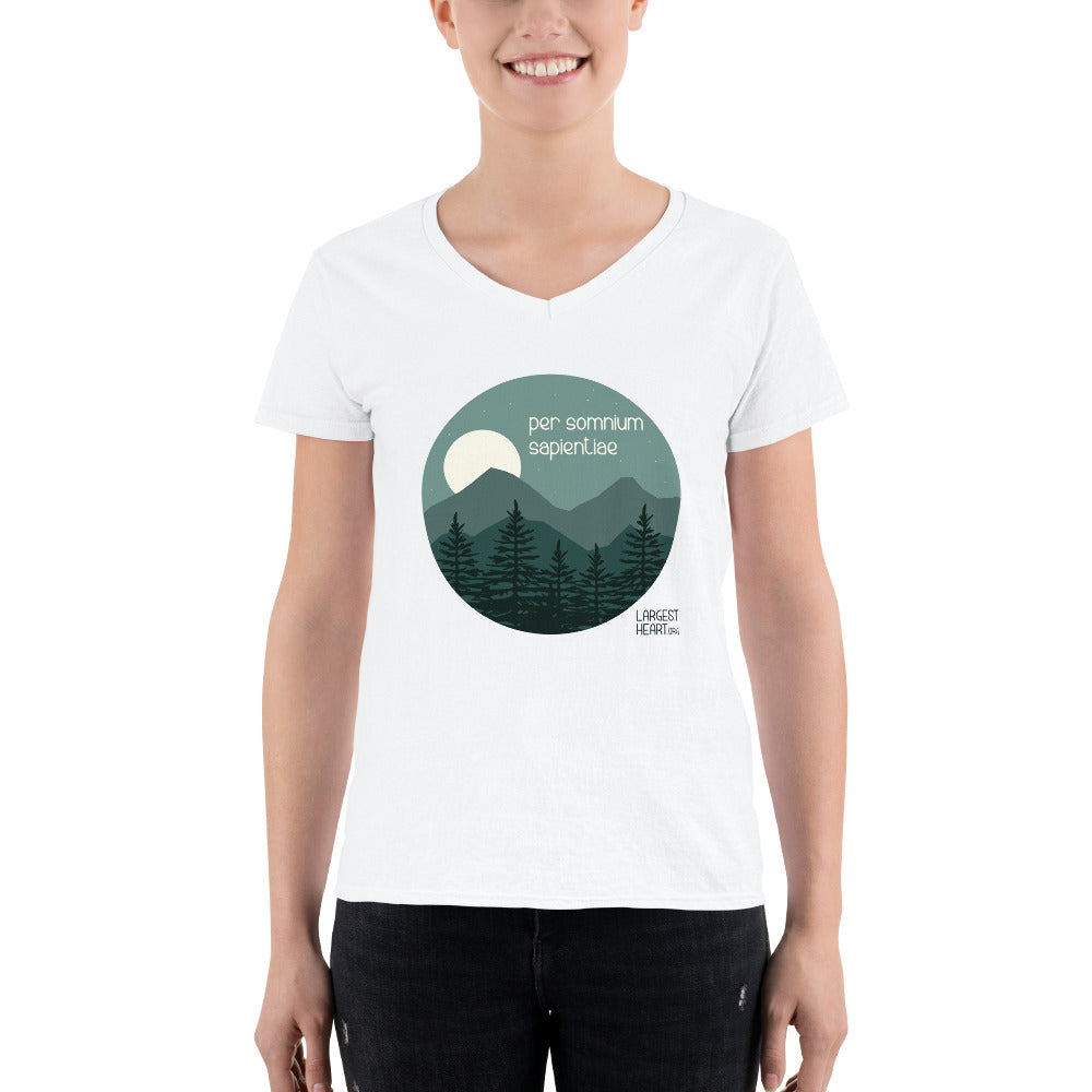 Women's Casual V-Neck Shirt - Wisdom