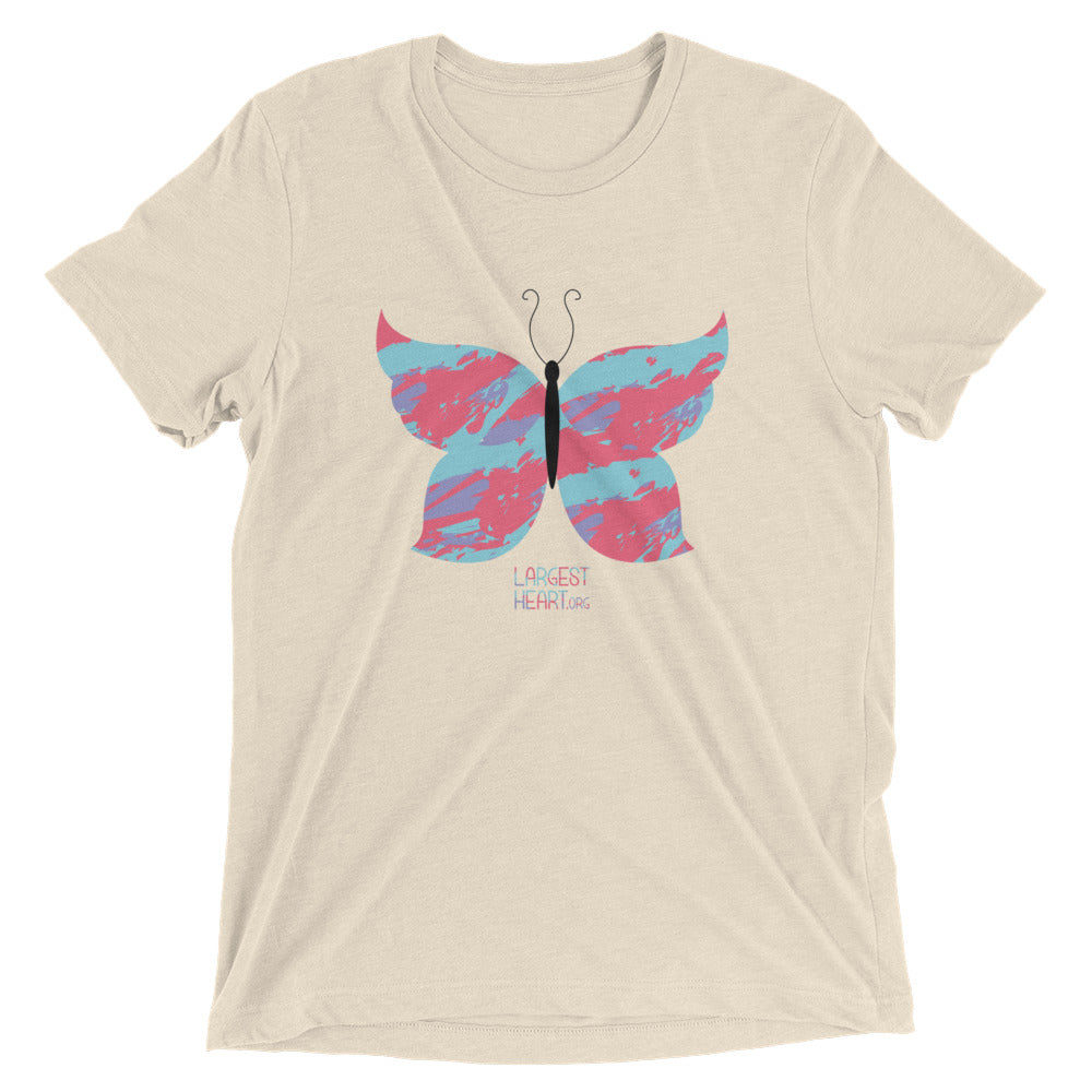 Triblend Short Sleeve T-shirt - Butterfly