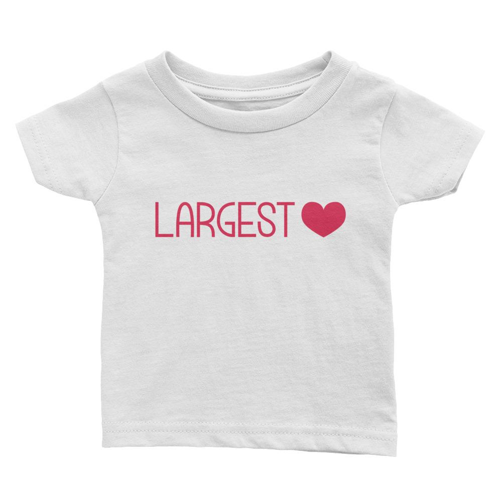 Baby Cotton Tee - Largest Heart