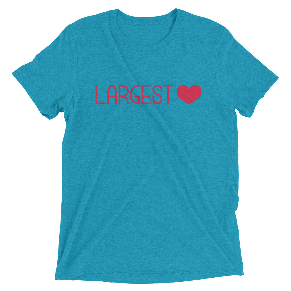 Triblend Short Sleeve T-shirt - Largest Heart
