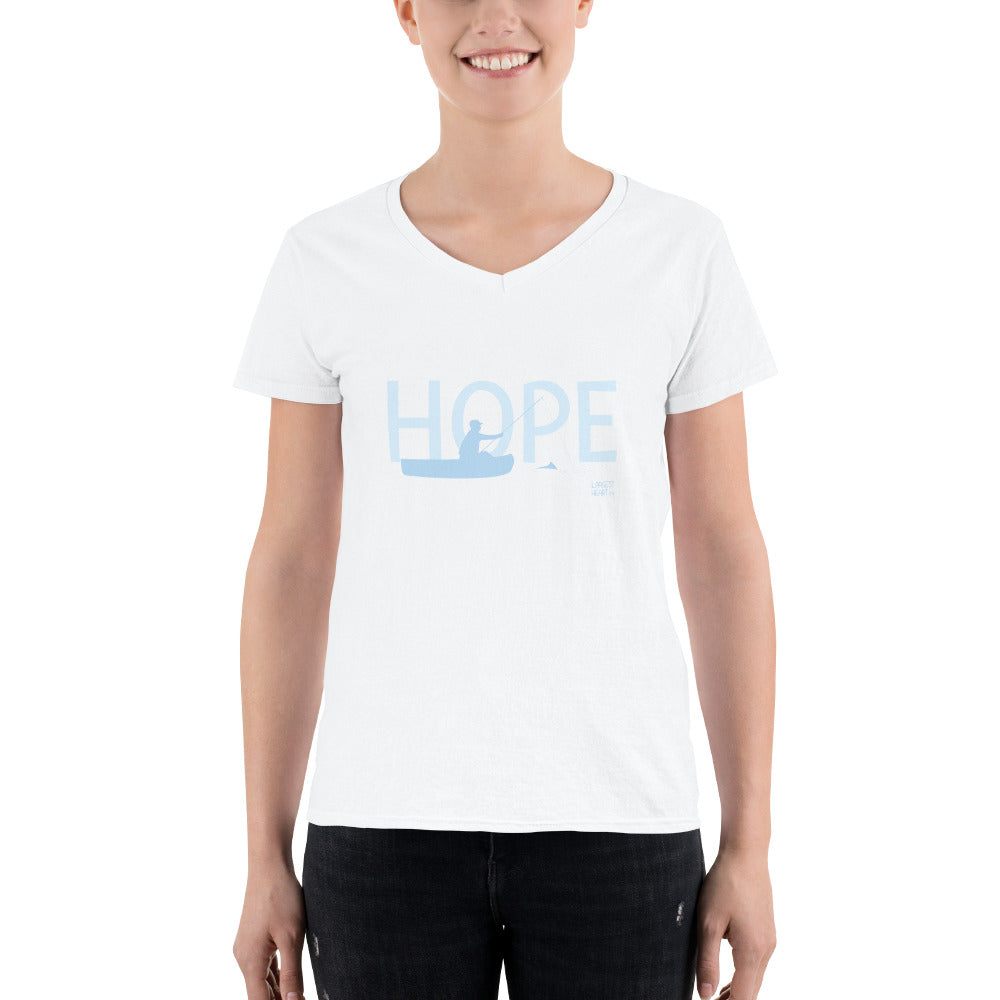 Women's Casual V-Neck Shirt - Hope Canoe