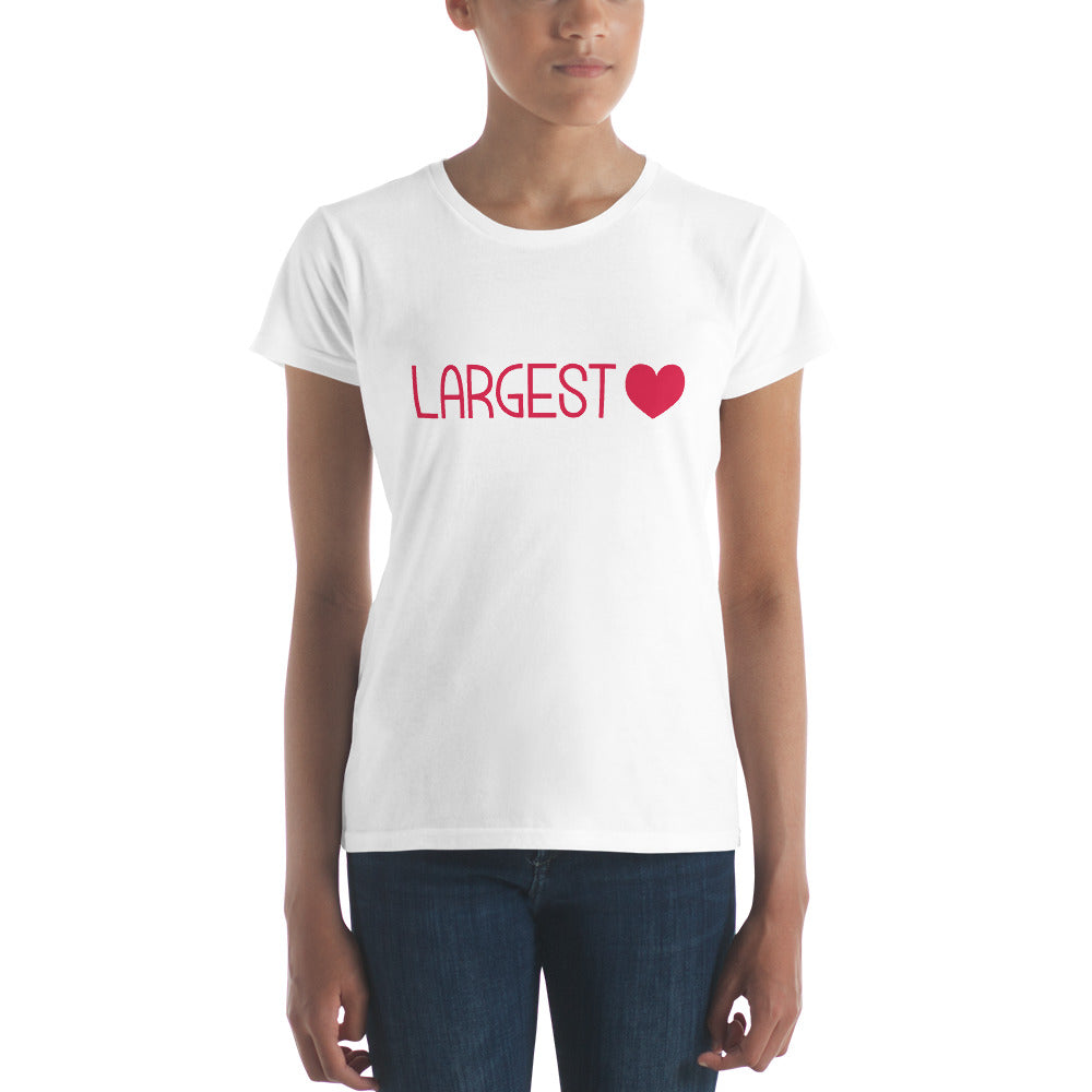 Women's Short Sleeve T-shirt - Largest Heart