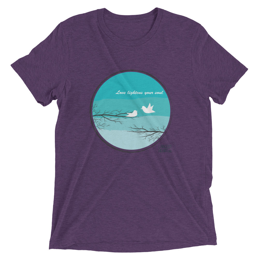 Triblend Short Sleeve T-shirt - Love Lightness the Soul