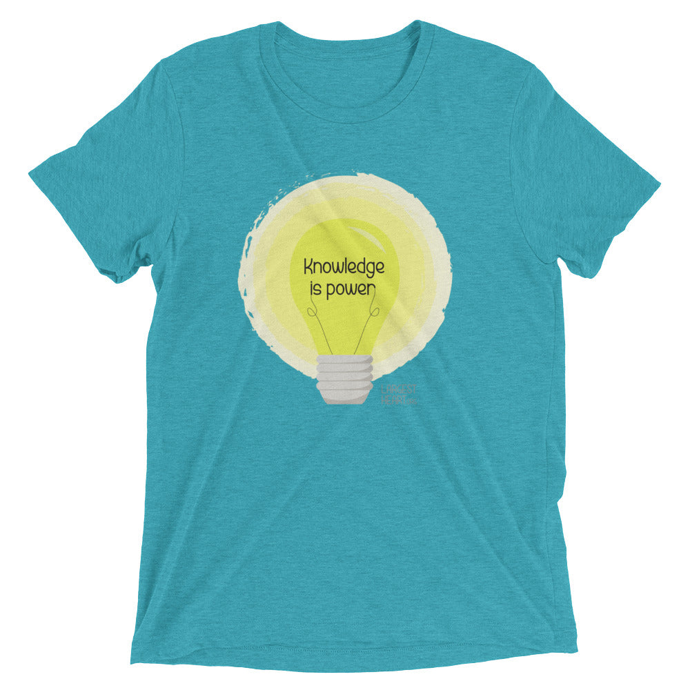 Triblend Short Sleeve T-shirt - Knowledge is Power
