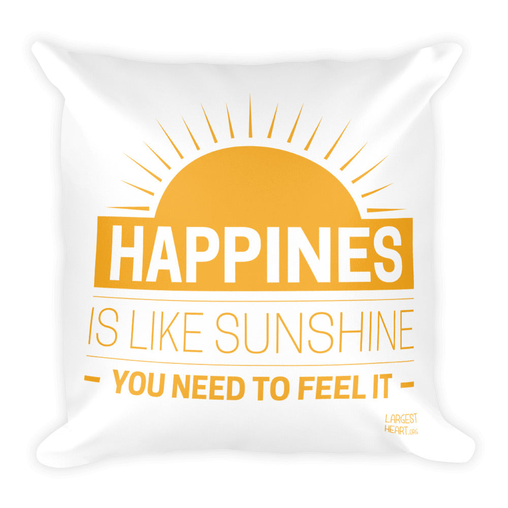 Square Pillow - Happiness