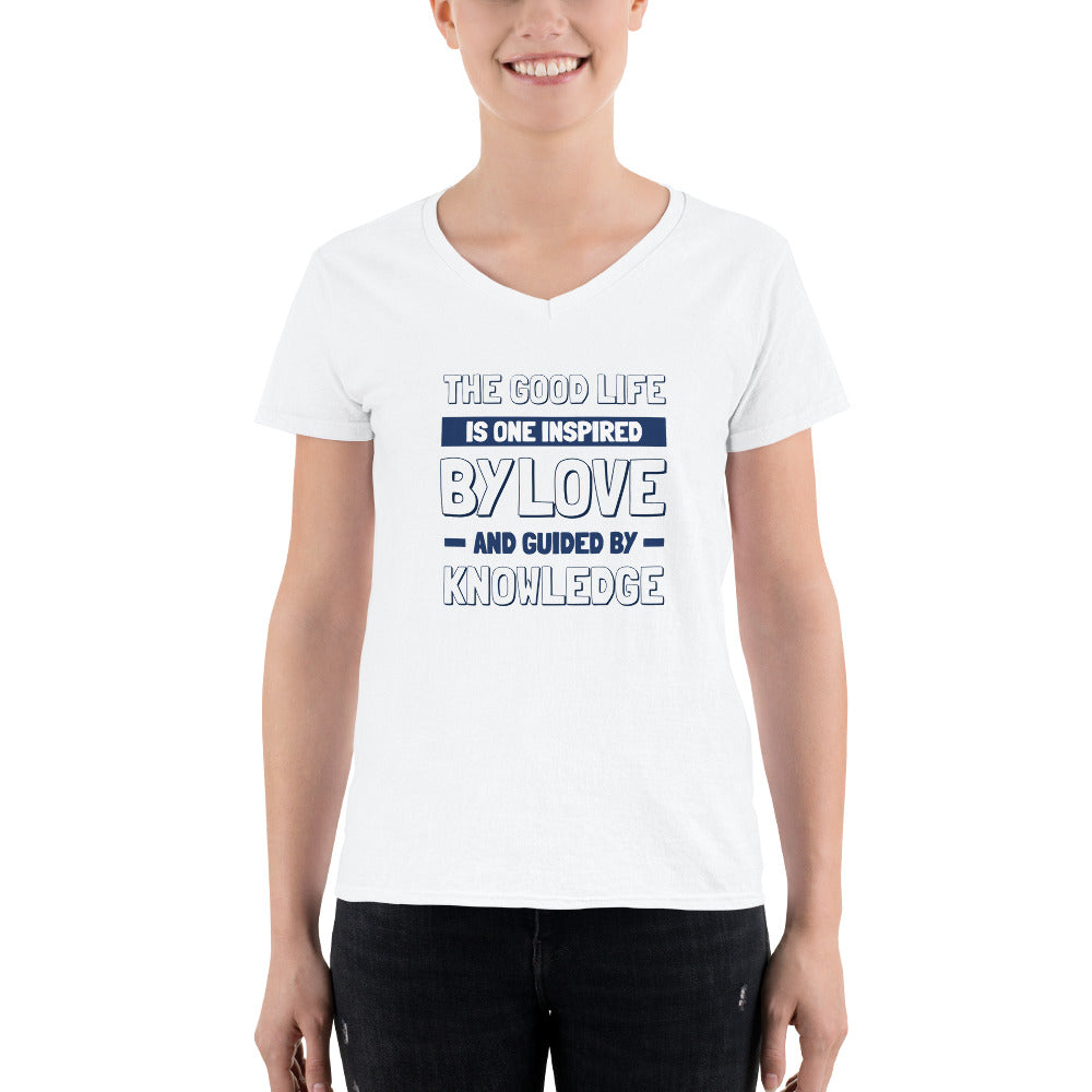 Women's Casual V-Neck Shirt - Good Life