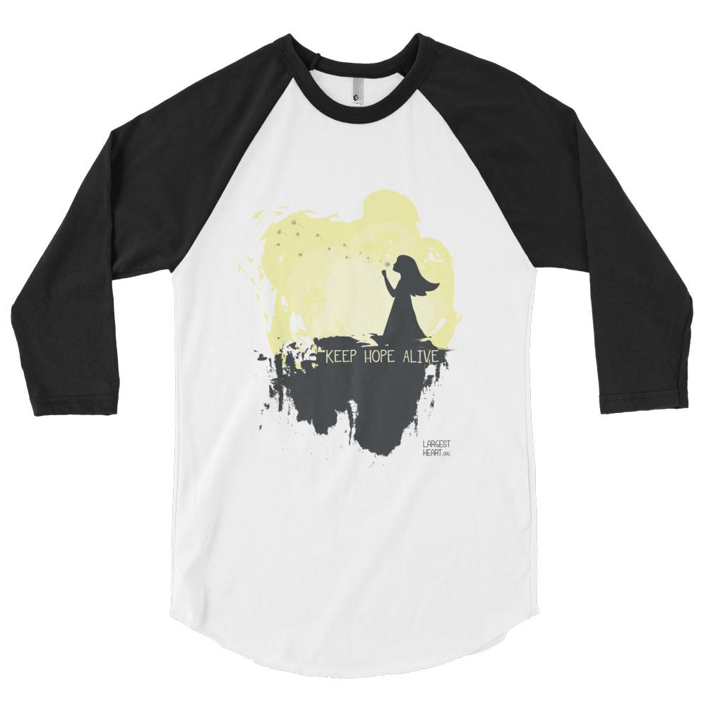 3/4 Baseball Tee's - Keep Hope Alive