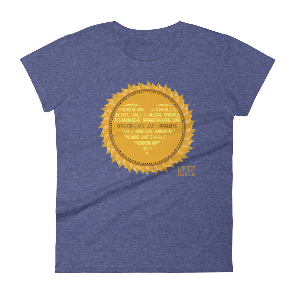 Women's Short Sleeve T-shirt - Sunflower