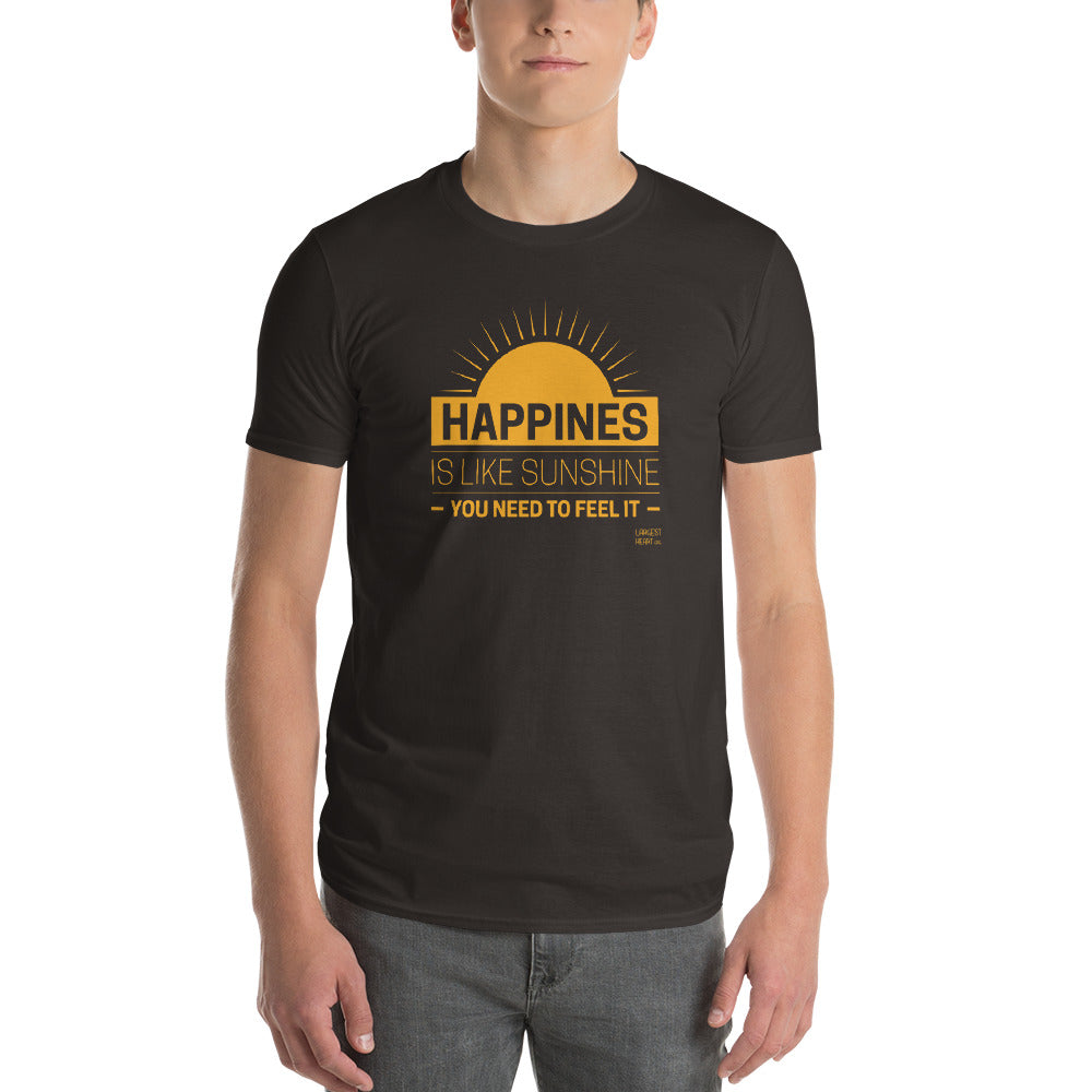 Men's Short Sleeve T-Shirt - Happiness