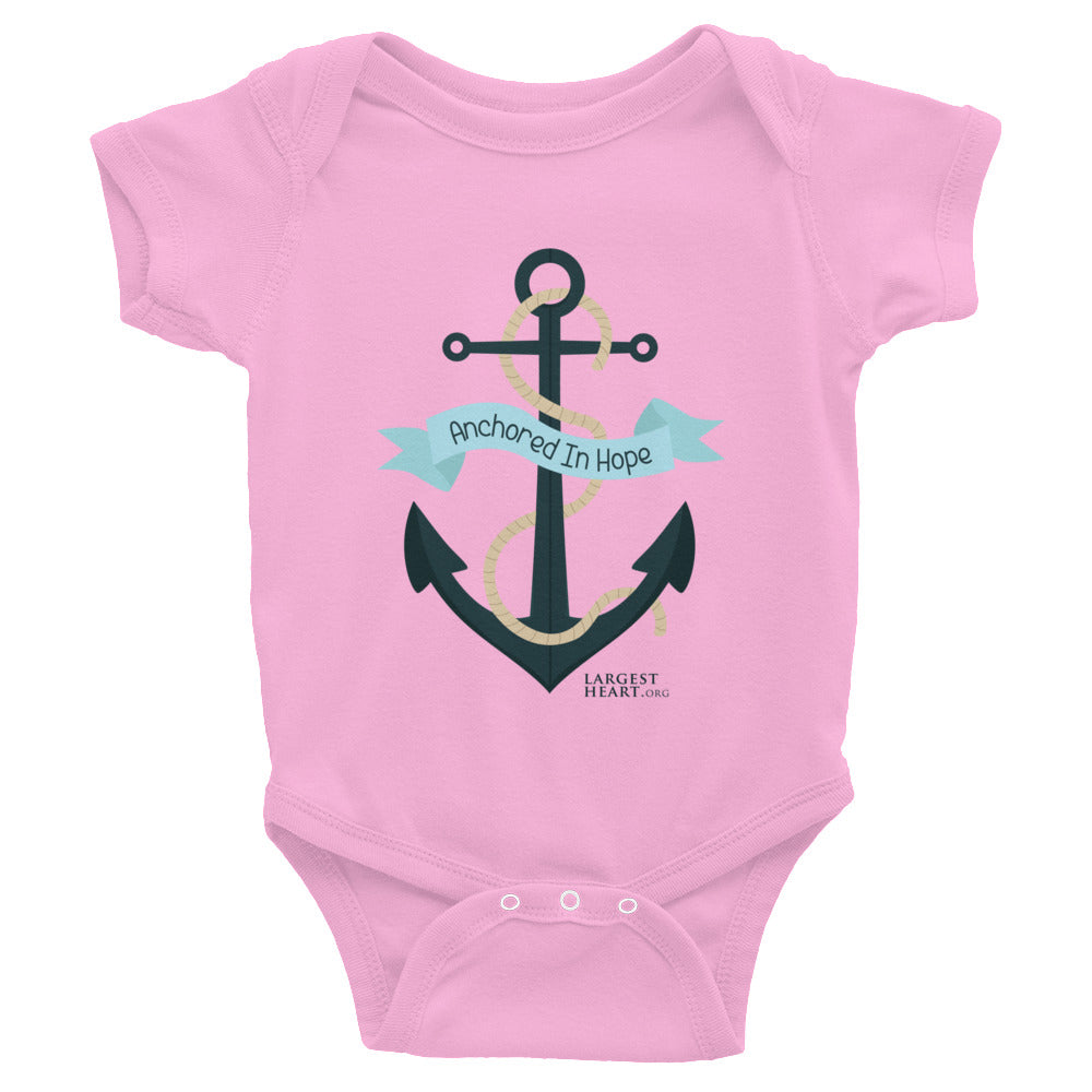 Infant Bodysuit - Anchored in Hope