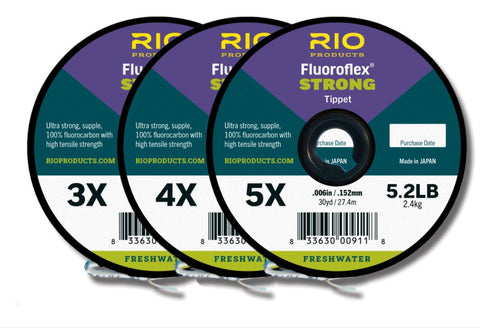 RIO Flouoroflex STRONG // 3 Pack Tippet Spools