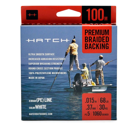 Hatch Premium Braided Fly Line Backing