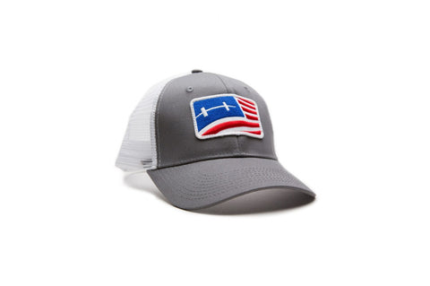 Hatch Outdoors Flag Cap - Gray
