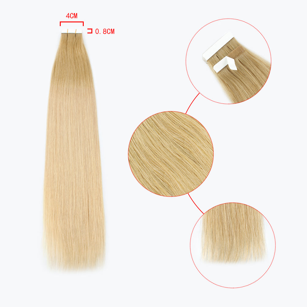 Fascinating Star Tape In Hair Extensions Ombre Color 11N/12G