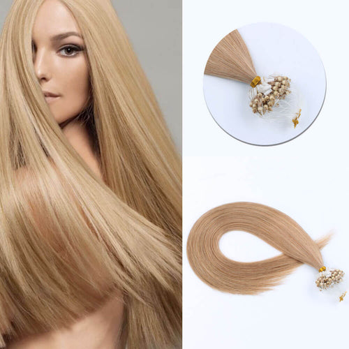 Stunning Star Micro Loop Hair Extensions Light Golden Brown 12#