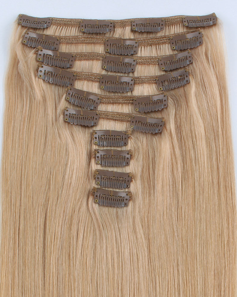 Deluxe Star 160g Clip In Hair Extensions Dirty Blonde 18#