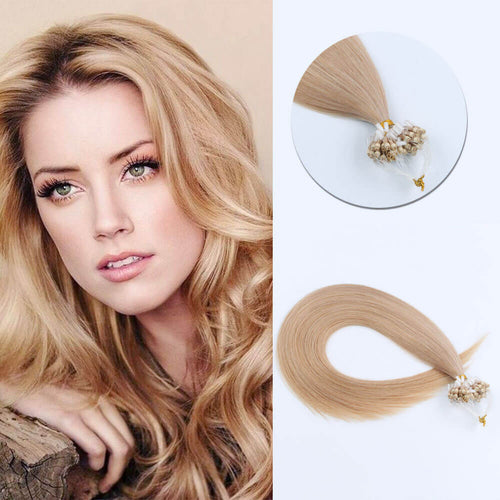 Stunning Star Micro Loop Hair Extensions Dirty Blonde 18#