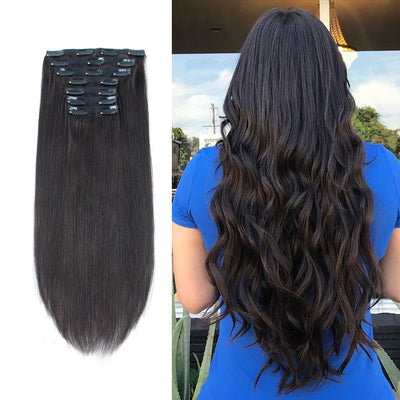 Clip In Hair Extensions For Thin Hair Off Black 1B#