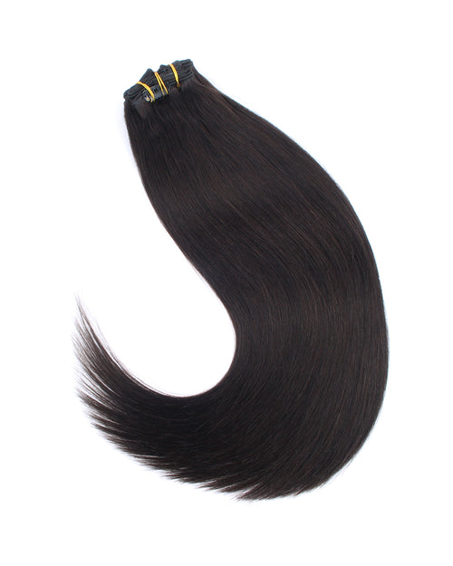 Deluxe Star 160g Clip In Hair Extensions Off Black 1B#