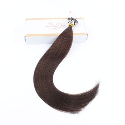Stunning Star Micro Loop Hair Extensions Walnut Brown 3#