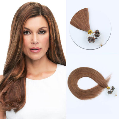 Stunning Star Micro Loop Hair Extensions Medium Auburn 30#