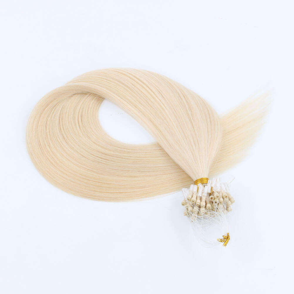 Stunning Star Micro Loop Hair Extensions Ash Blonde 60#