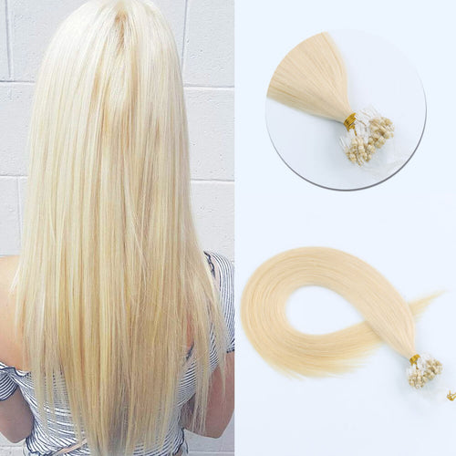 Stunning Star Micro Loop Hair Extensions Beach Blonde 613#