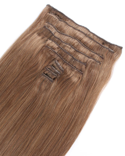 Deluxe Star 160g Clip In Hair Extensions Chestnut Brown 6#