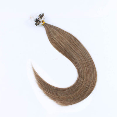 Stunning Star Micro Loop Hair Extensions Ash Brown 8#