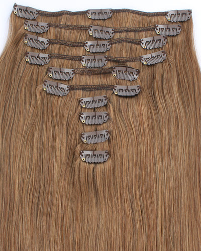 Deluxe Star 160g Clip In Hair Extensions Ash Brown 8#