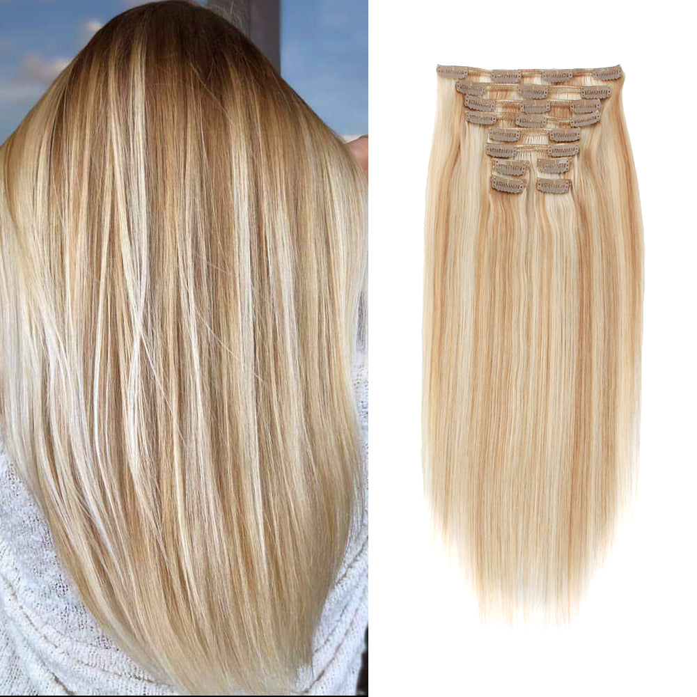 Deluxe Star 160g Clip In Hair Extension Highlighted Color P12-60#