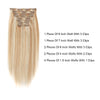 Flowery Star 220g Clip In Hair Extension Highlighted Color P12-60#