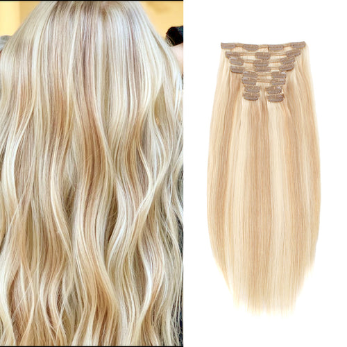 Flowery Star 220g Clip In Hair Extension Highlighted Color P18-613#