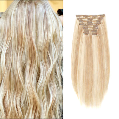 Deluxe Star 160g Clip In Hair Extension Highlighted Color P18-613#