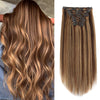 Flowery Star 220g Clip In Hair Extension Highlighted Color P4-27#