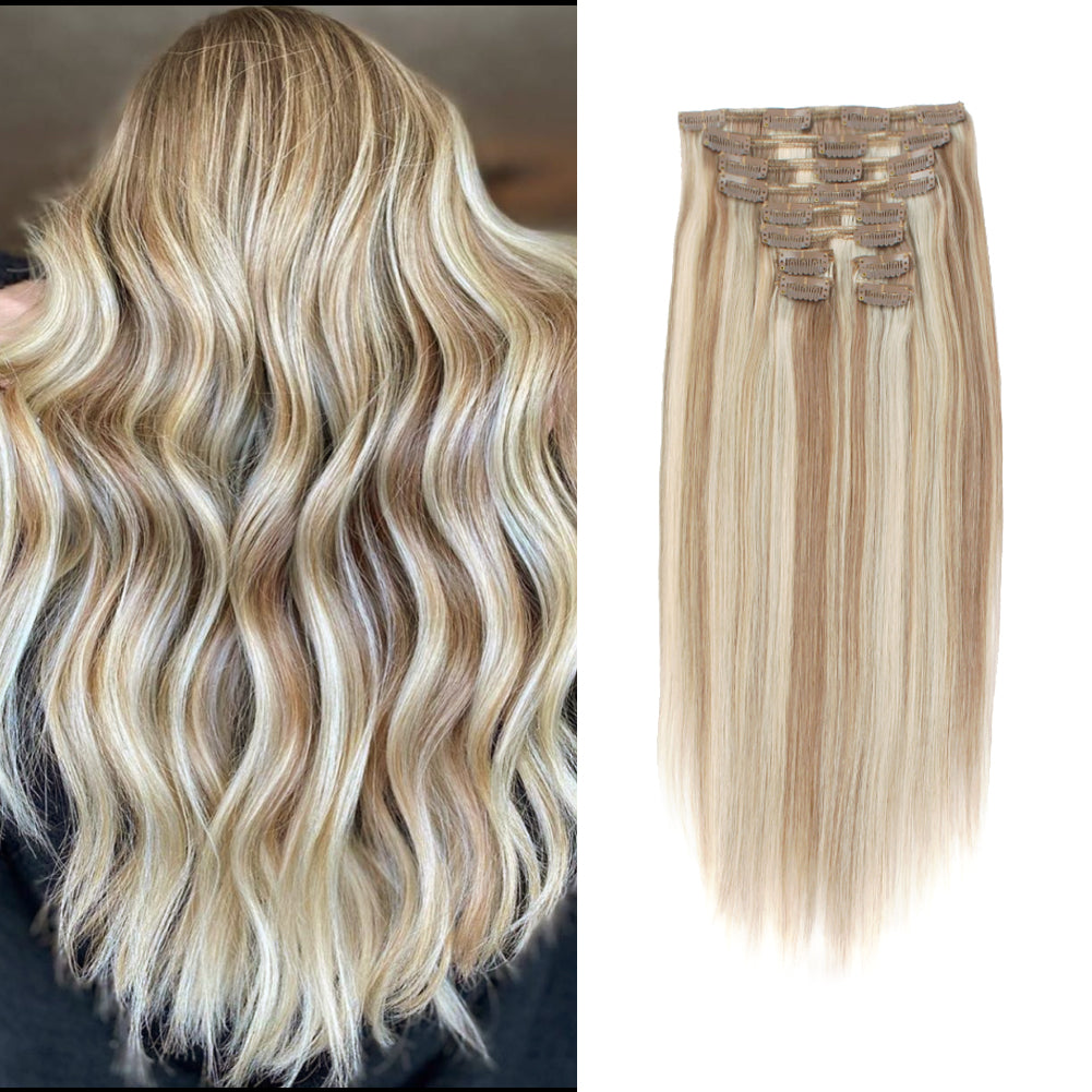 Deluxe Star 160g Clip In Hair Extension Highlighted Color P8-60#