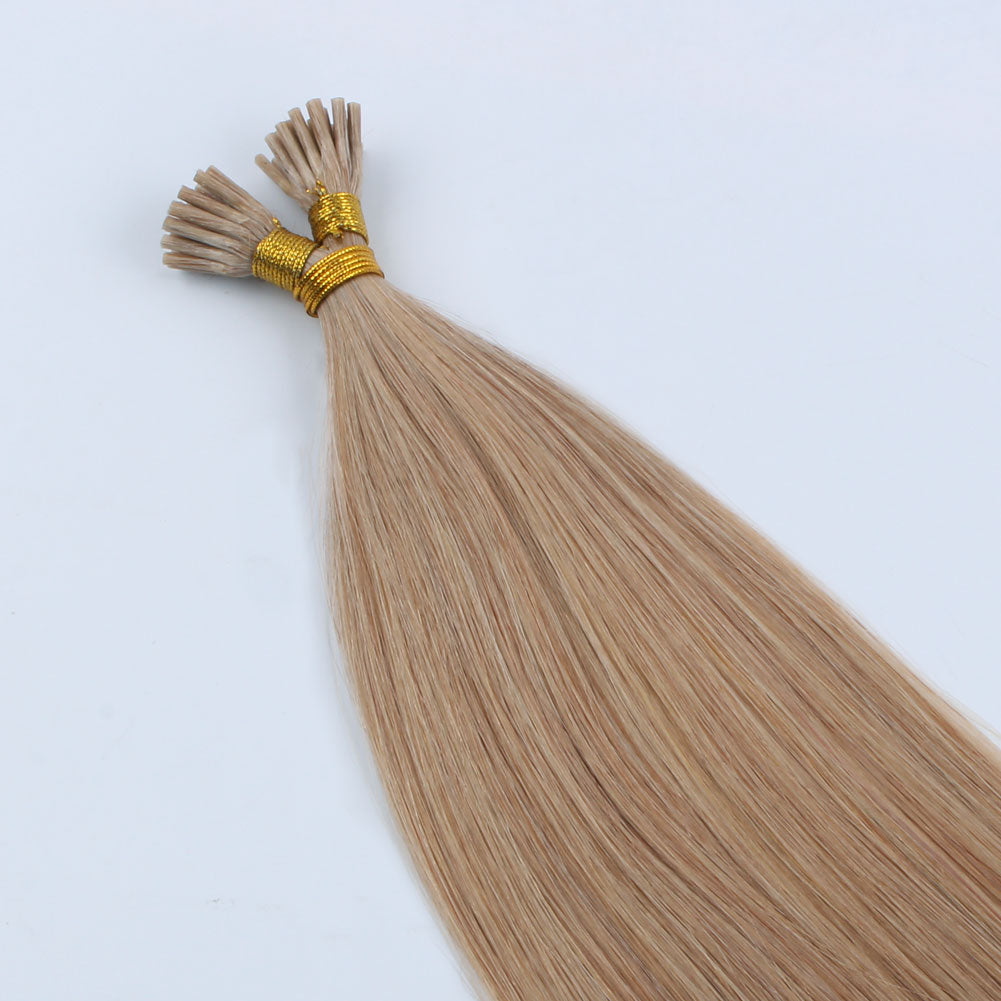 Lovely Star I Tip Hair Extensions Light Golden Brown 12#