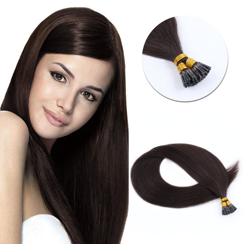 Lovely Star I Tip Hair Extensions Dark Brown 2#