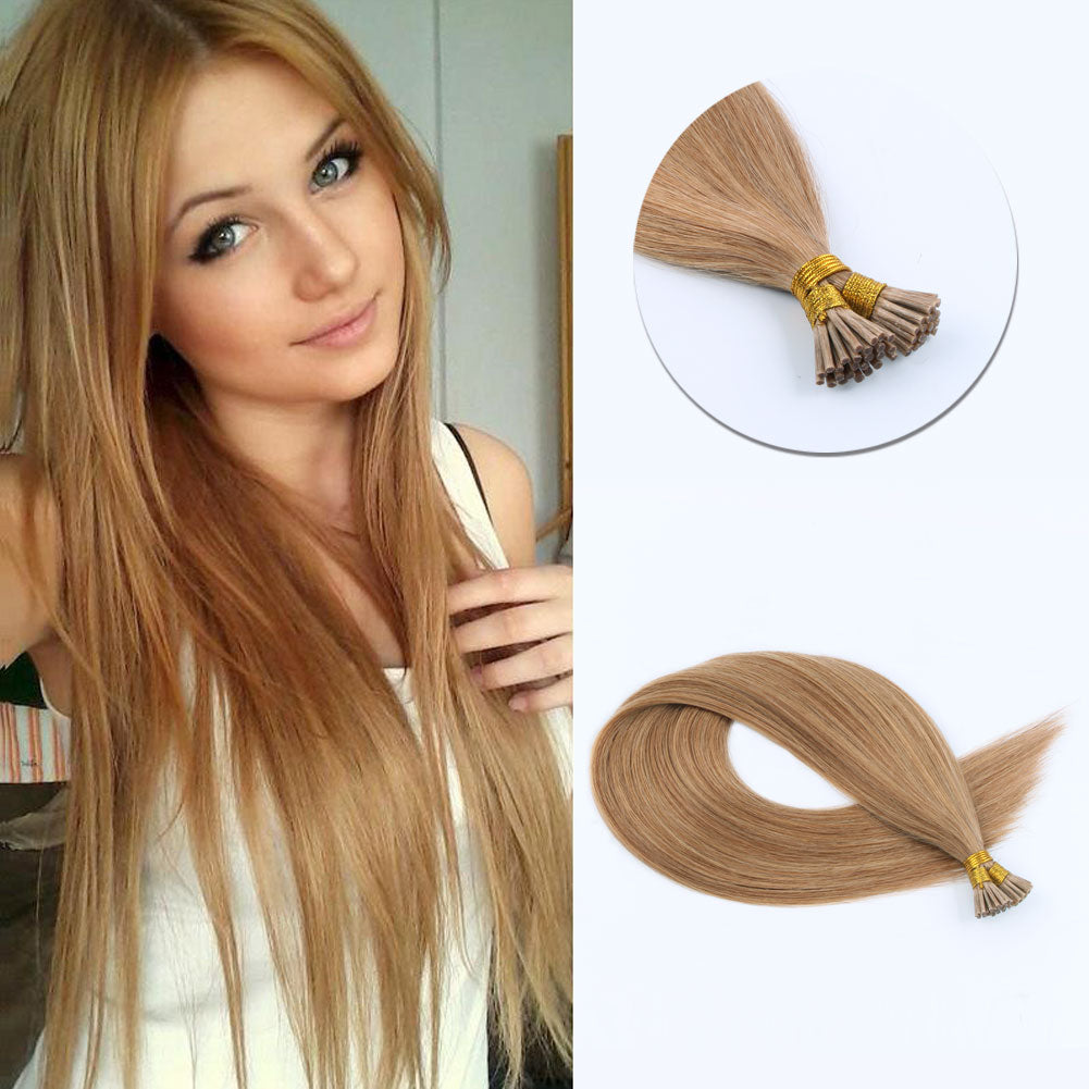 Lovely Star I Tip Hair Extensions Strawberry Blonde 27#