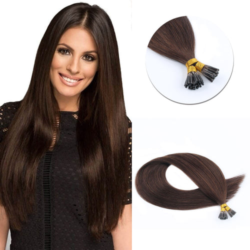 Lovely Star I Tip Hair Extensions Walnut Brown 3#