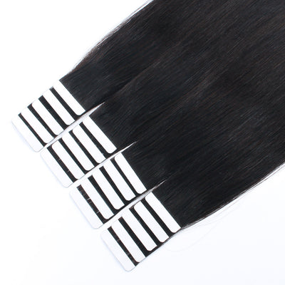 Tape In Hair Extensions Remy Human Hair Off Black 1B#