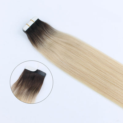 Adorable Star Tape In Hair Extensions Rooted Color 2/60#
