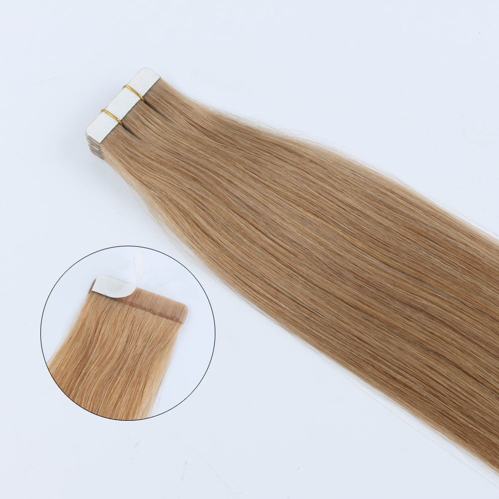 Elegant Star Tape In Hair Extensions Strawberry Blonde 27#