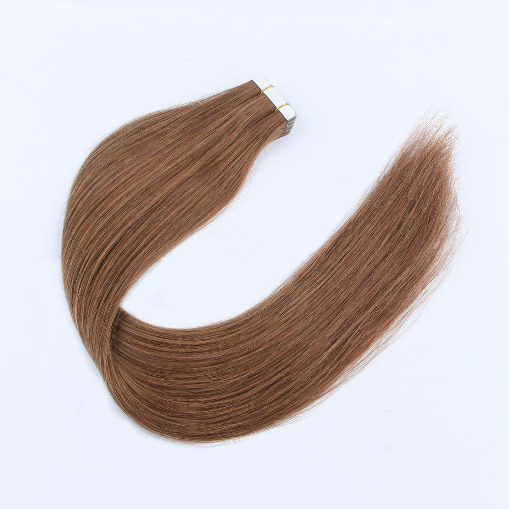 Elegant Star Tape In Hair Extensions Medium Auburn 30#