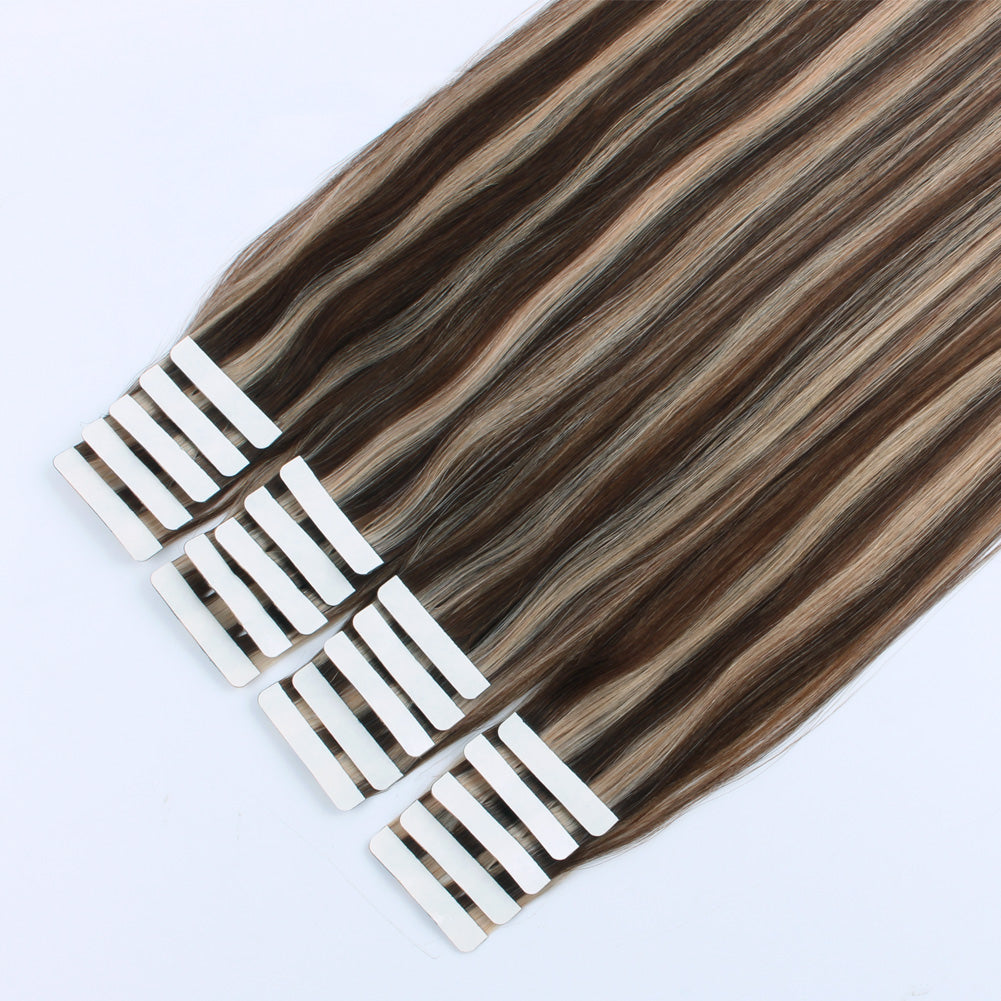 Charming Star Tape In Hair Extensions Piano Color 4/12#