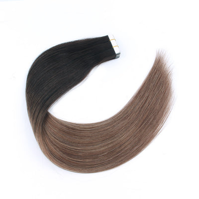 Fascinating Star Tape In Hair Extensions Ombre Color 2/6#