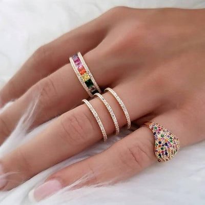 Anillo 3 lines gold